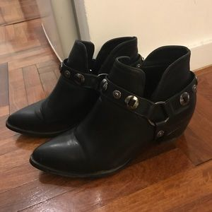 Faux Leather Western Style Booties